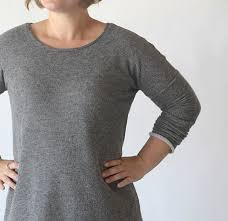 the breezy tee long sleeve sweater dress free sewing pattern