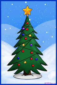 coloring pages charming christmas tree drawing ideas for kids