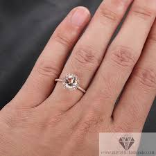 gold pave rings images Rose gold morganite diamond pave engagement cocktail ring jpg