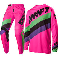 motocross gear set shift 2017 new mx kids whit3 label tarmac flo pink youth motocross