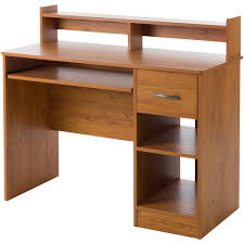 Narrow Computer Desk With Hutch by South Shore Smart Basics Small Desk Multiple Finishes Walmart Com