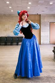 Ariel Mermaid Halloween Costume Ariel Blue Dress Cosplay Costume Disney Phoenixcardinal Etsy