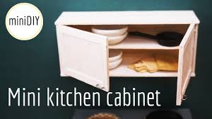 miniature kitchen cabinet diy dollhouse minidiy youtube