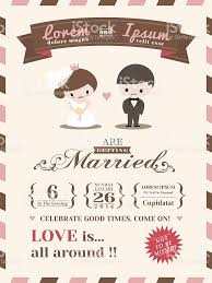 Herbalife Invitation Cards Wedding Invitation Card Template With Cute Groom And Bride Cartoon