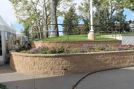 Terraced Retaining Wall Ideas by Spruce Meadows Retaining Walls Cornerstone Wall Solutions