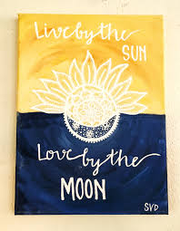 Pinterest Canvas Ideas by Sun And Moon Quote Canvas Painting By Museartwork On Etsy Https