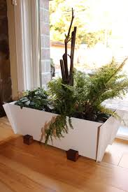 Window Sill Herb Garden by Modern Planter Free Shipping Contemporary Herb Steel And Wood