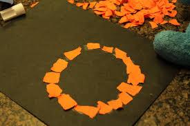 Halloween Crafts Construction Paper by Halloween Pumpkin Craft