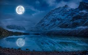 pictures nature mountains moon lake reflection landscape photography