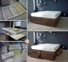 Diy King Platform Bed With Drawers by Best 25 Platform Bed Storage Ideas On Pinterest Bed Frame