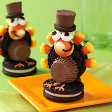 thanksgiving oreo turkey cookies recipe turkey pilgrim cookies recipe taste of home