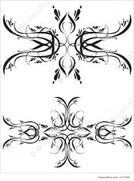 fancy detailed decorations ornamental illustration