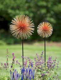 decorative garden stakes solar flowers metal flowers