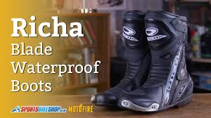 waterproof leather motorcycle boots richa blade waterproof motorcycle boots overview youtube