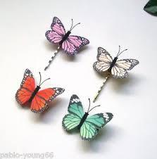 butterfly hair clip 4 pcs orange monarch butterfly hair clip pins handmade fabric