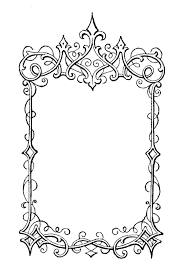 free printable fancy frames print me for free pinterest