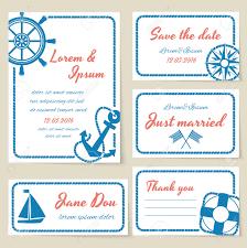 texte voeux mariage invitation et cartes de voeux de mariage à thème nautique avec des