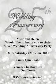 50th Wedding Anniversary Invitation Cards 25th Wedding Anniversary Invitations Printable Wedding