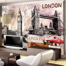 online get cheap modern wallpaper london city mural aliexpress european retro wall paper london bridge city landscape wallpaper art for living room custom 3d photo murals painting