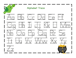 free printable alphabet letter tracing worksheets kindergarten