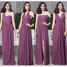 plum wedding dresses purple mismatched bridesmaid dresse mismatched bridesmaid