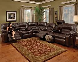 Leather Reclining Sofas And Loveseats by Unwind 3 Piece Reclining Sectional Java Levin Furniture