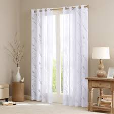 Amazon Living Room Curtains by Amazon Com Averil Sheer Bird Window Panel White 84