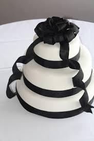 becca u0027s blue bakery classic black ribbon wedding cake