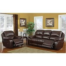 reagan leather motion sofa u0026 recliner set by dorel fine