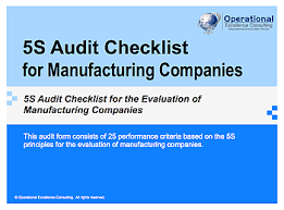 Ppt 5s Audit Checklist For Manufacturing Companies Ppt 5s