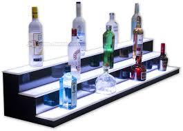 low profile liquor displays home bar shelves bottle glorifiers