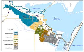 map of corpus christi garbage and recycling schedule city of corpus christi