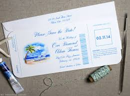 Destination Wedding Save The Date 6 New Airline Ticket Inspired Save The Dates Watercolor Wedding