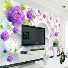 3d purple rose flower wallpaper photo murals for living roommural 3d purple rose flower wallpaper photo murals for living roommural wallpaper flower home improvement wall papers home decor 3d in wallpapers from home