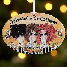 gathering of the goddesses oval ornament by suzy toronto ornament