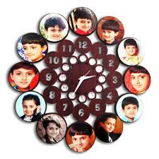 personalized clocks with pictures personalized sublimation photo wall clock target sign tech pvt