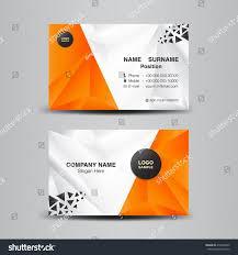 Orange Colors Names Business Card Template Vector Illustration Orange Stock Vector