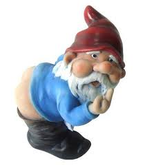 middle finger mooning garden gnome your lawn will never be the