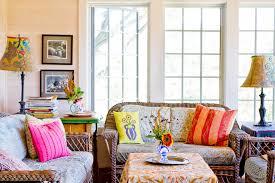 furniture bohemian decor with wicker furniture and window trim