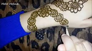 flower mehndi design by tutorial dailymotion