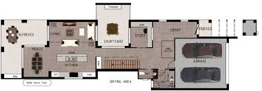 Narrow House Plans by Interesting House Plans For Narrow Lots Bungalow Plan Inside