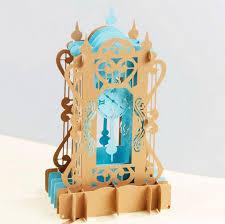 3d Invitation Card 3d Antique Clock Pop Up Invitation Greeting Card Wedding