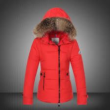 large sale moncler bryone down jacket women red precious design