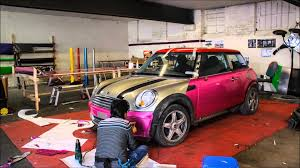 pink sparkly cars mini cooper glitter pink wrap youtube