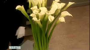calla lilies an arrangement with calla lilies martha stewart