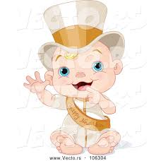 new year sash vector of new year baby wearing a sash and top hat by