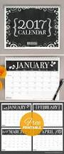 free printables three stylish 2017 calendars blog botanical
