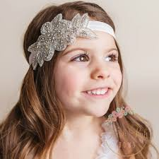 baby hair band children s hair band with rhinestone flower leaf new baby hair