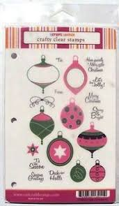 craft lounge crafty clear sts jolly ornaments new ebay
