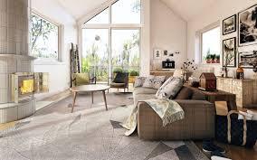 Rugs For Sectional Sofa by Living Room Modern Scandinavian Designing Nice Gray Polypropylene